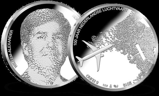 Luchtvaart Vijfje eerste herdenkingsmunt 2019 - Zilveren-vijfje.nl
