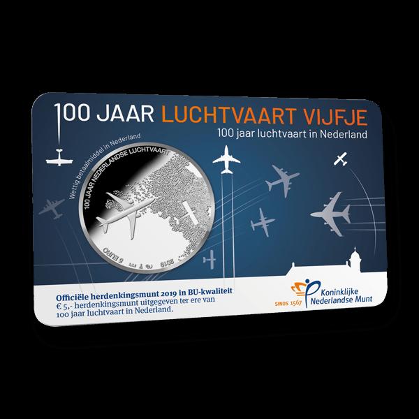 Luchtvaart Vijfje Verzilverd BU - Amsterdams MuntKantoor